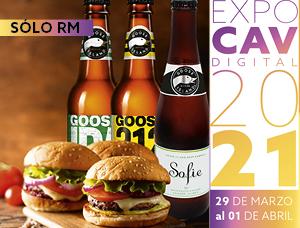 Cata de cervezas Goose Island & hamburguesas en Expo CAV