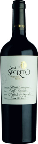 Valle secreto first edition cabernet sauvignon 2018