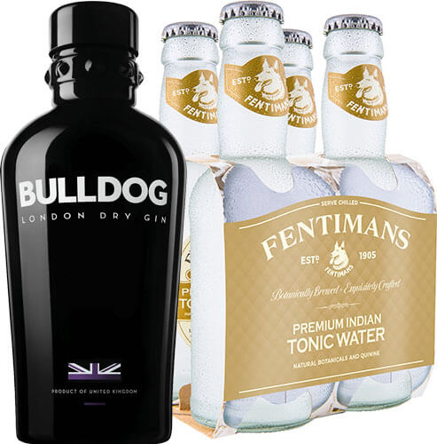 Pack  1 Bulldog + 4 Fentimans Tonica Waters